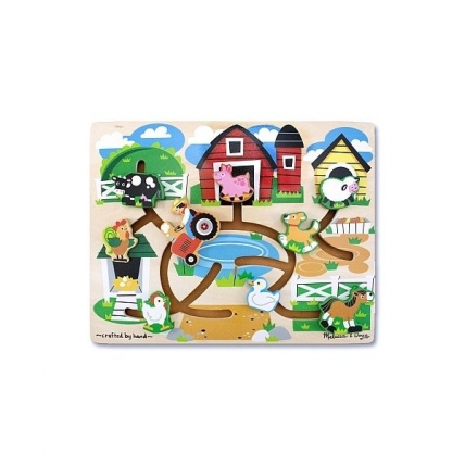 Joc de lemn Ferma Labirint Melissa and Doug MD 4303